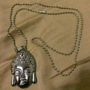 Other - Buddha Head Titanium Metal Necklace